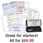 Quick Start Package (250 Checks, 250 Envelopes, 150 Deposit Slips, 1 Stamp)