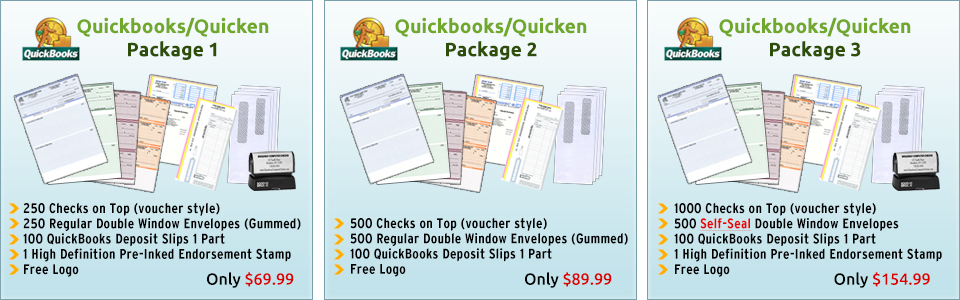 QuickenQuickBooks Users Starter Package BroadwayComputerCheckscom - Intuit invoice envelopes